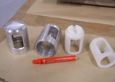 Pièces en plastique aluminium